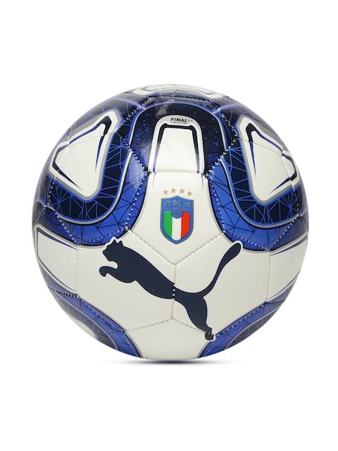 Puma Kids Off-White & Blue Printed Italia Final Mini Football