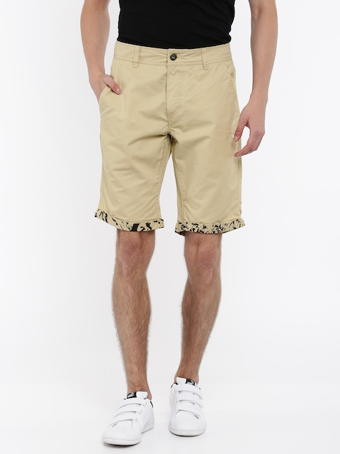 Puma Men Beige Regular Fit Solid Chino Shorts