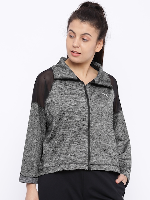 Puma Women Grey Explosive Sporty Jacket
