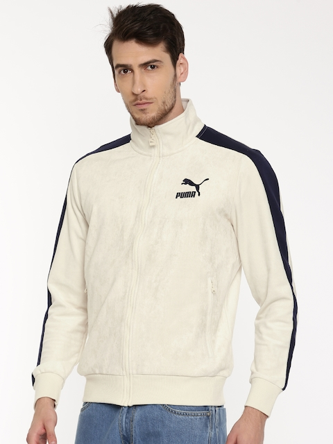 Puma Men Beige Solid Sporty Jacket