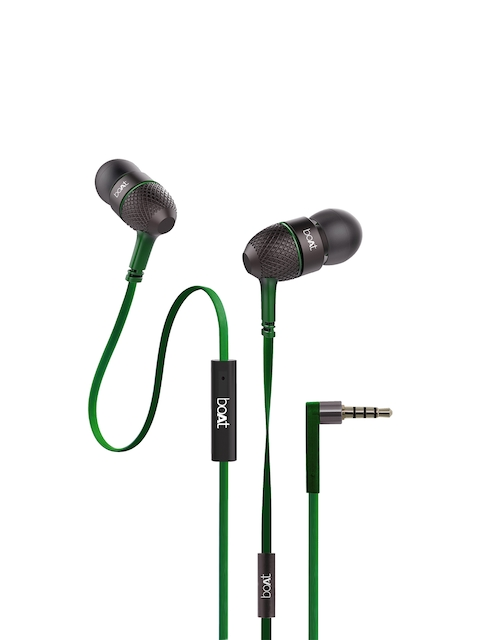 boAT Forest Green Bass Heads 225 In-Ear Headphones with Mic 8904130843167