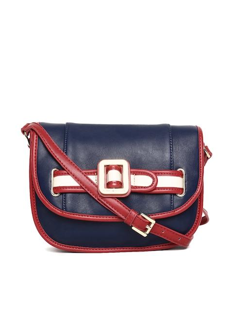Tommy Hilfiger Blue Solid Sling Bag