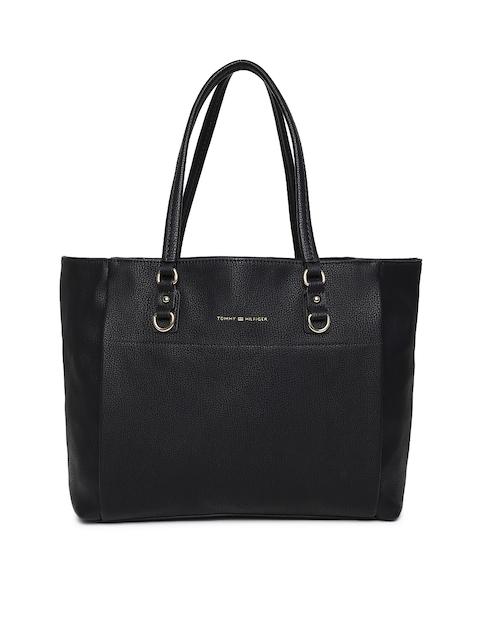 Tommy Hilfiger Black Solid Shoulder Bag
