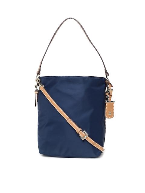 Tommy Hilfiger Navy Solid Hobo Bag
