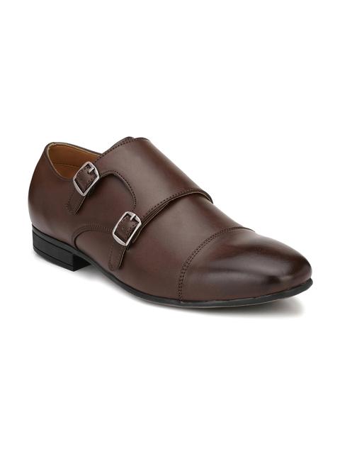 Fentacia Men Brown Monk Shoes