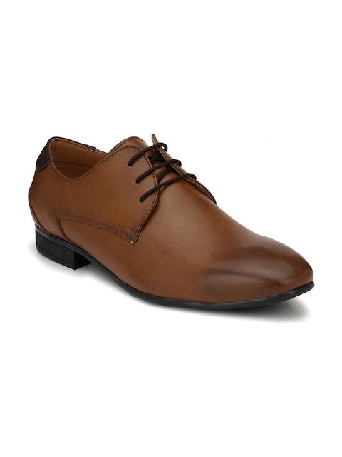 Fentacia Men Tan Derby Shoes