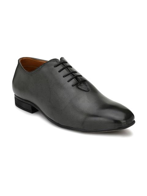 Fentacia Men Charcoal Oxfords Shoes