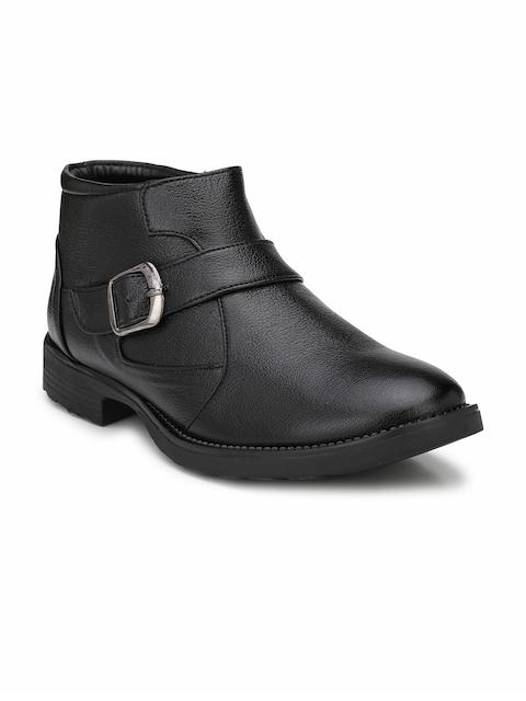 Mactree Men Black Monk Shoes