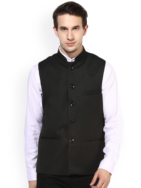 Hangup Black Nehru Jacket