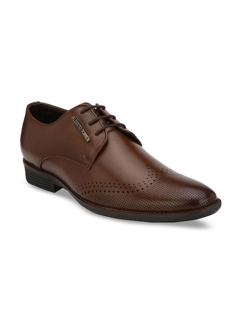 Alberto Torresi Men Tan Derby Shoes
