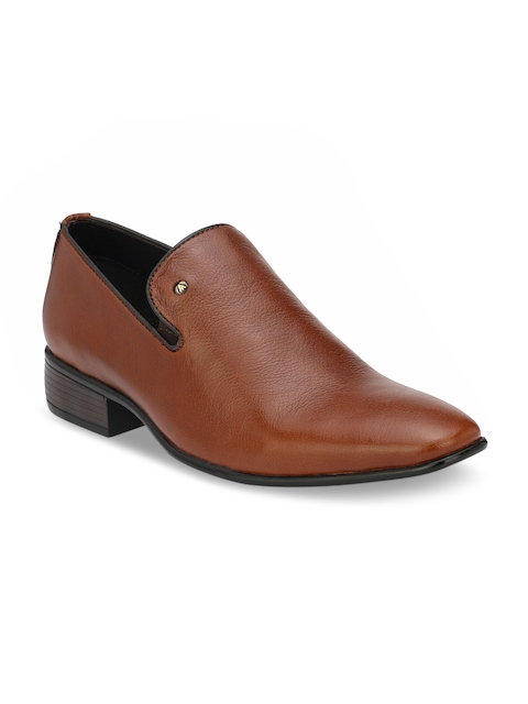 Alberto Torresi Men Tan Leather Slip-On Shoes