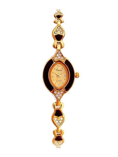 Camerii Women Beige & Gold-Toned Analogue Watch CWL782