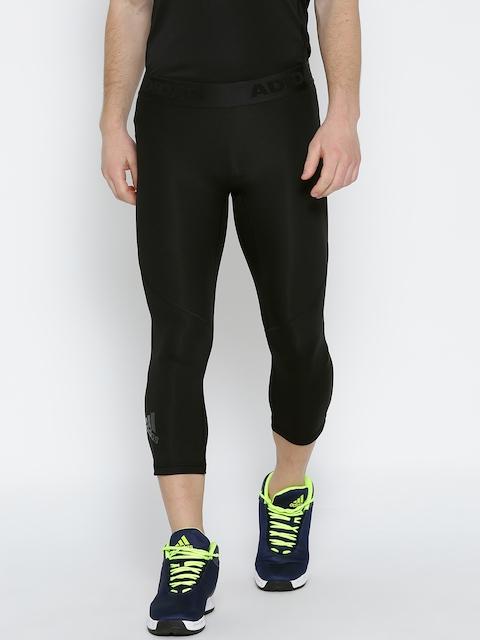 Adidas Men Black Alphaskin SPR 34 Solid Training Tights