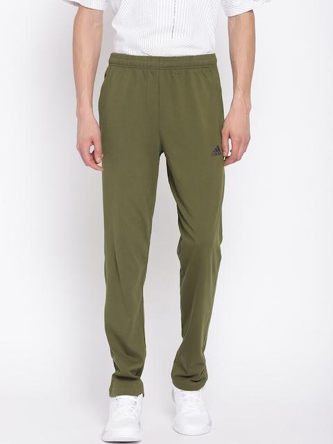 ADIDAS Men Olive Green Essentials SJ Track Pants