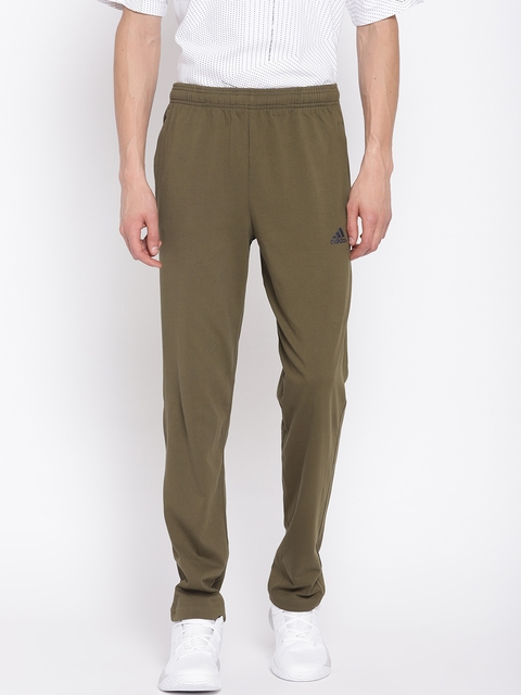 Adidas Men Olive Green Essentials SJ Track Pants