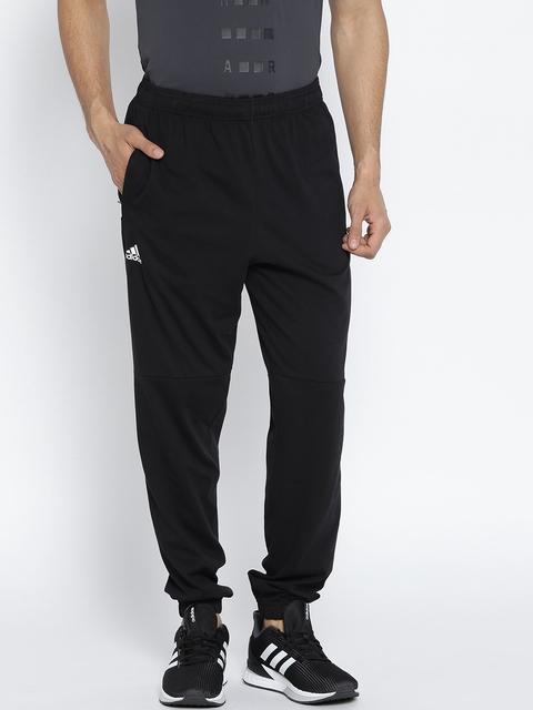Adidas Men Black ESS LIN T PN SJ Tapered Fit Joggers