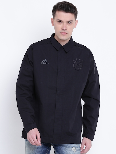 Adidas Men Black DFB ZNE Woven Football Jacket
