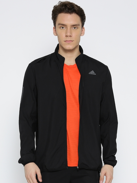 Adidas Men Black RS Wind Solid Running Jacket