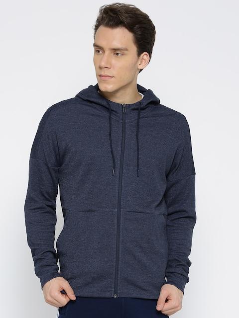 ADIDAS Men Navy ID STADIUM FZ Solid Hooded Sweatshirt