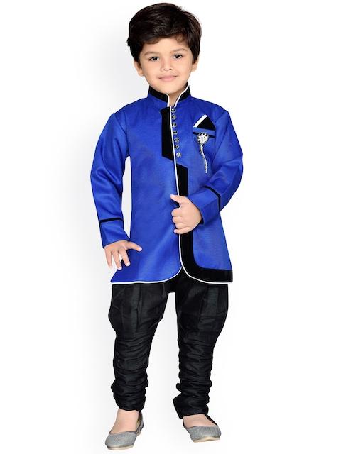 AJ Dezines Boys Blue & Black Sherwani