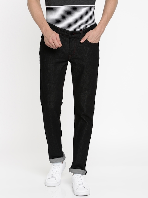 Lee Men Black Skinny Fit Low-Rise Clean Look Stretchable Jeans
