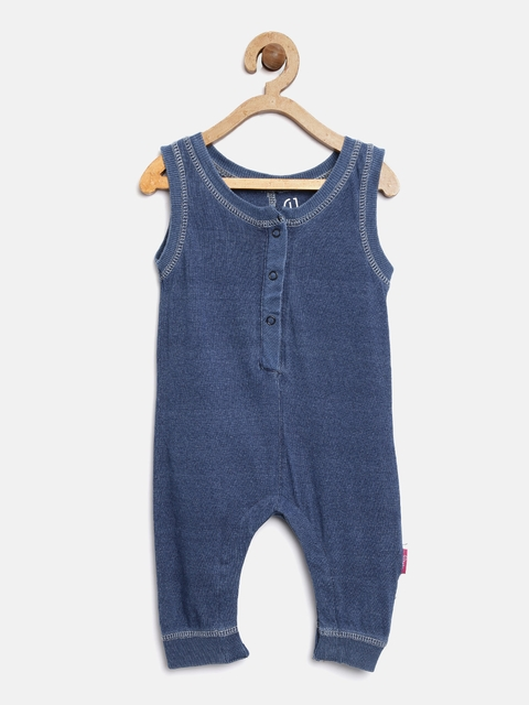 Gini and Jony Girls Blue Romper