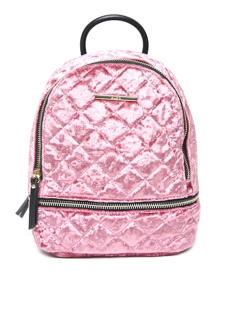 ALDO Women Pink Quilted Backpack