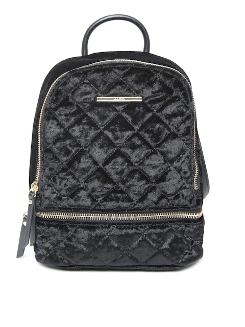 ALDO Women Black Quilted Backpack