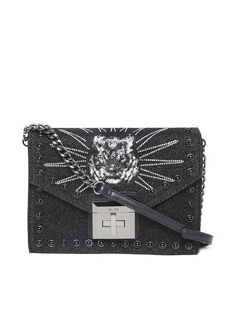 ALDO Black Embellished Sling Bag