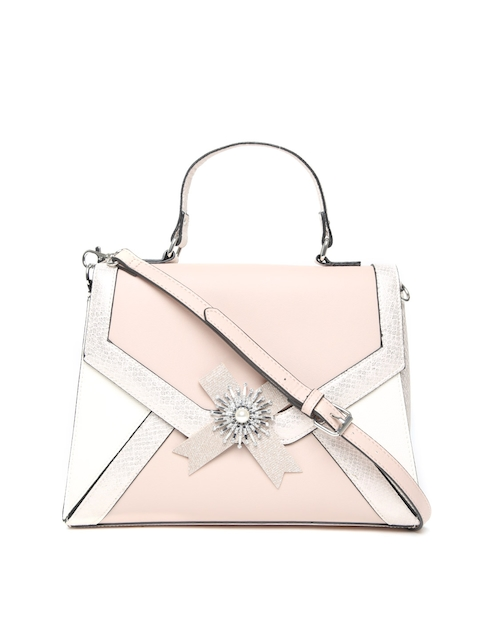 ALDO Pink & Off-White Colourblocked Satchel