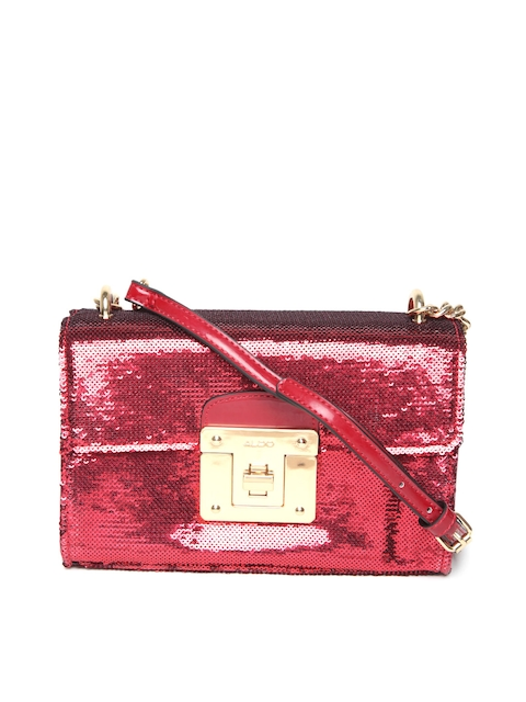 ALDO Red Embellished Sling Bag