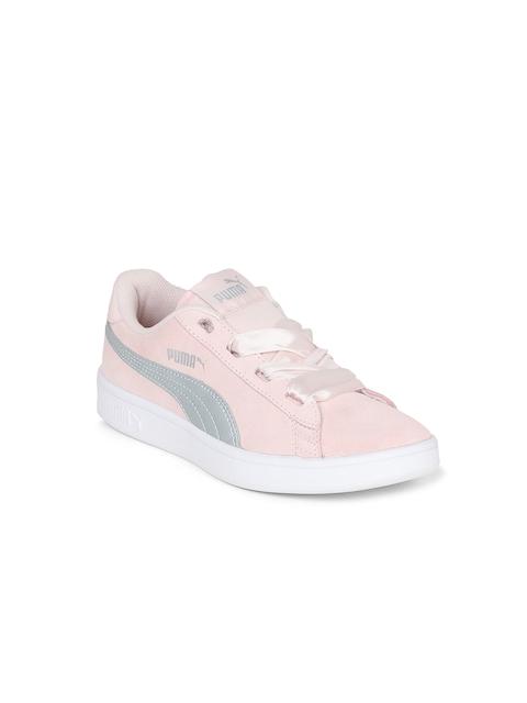 Puma Girls Peach-Coloured Sneakers