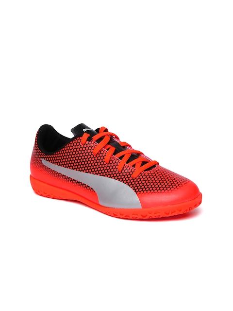 PUMA Boys Red Printed Spirit Indoor Training Shoes