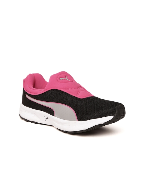 Puma Women Black & Pink Burst Slipon IDP Running Shoes
