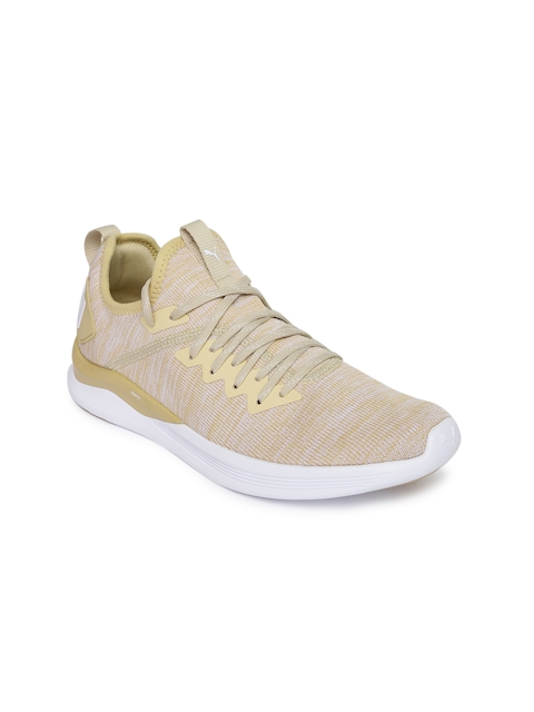 Puma Women Beige IGNITE Flash evoKNIT Running Shoes