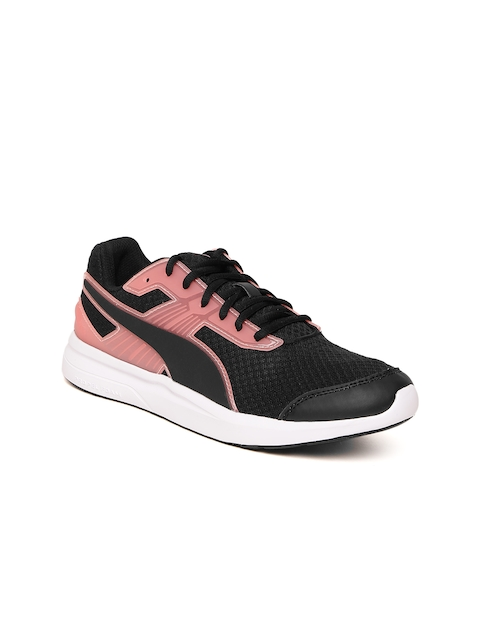 Puma Women Black & Pink Escaper Pro Running Sports Shoes