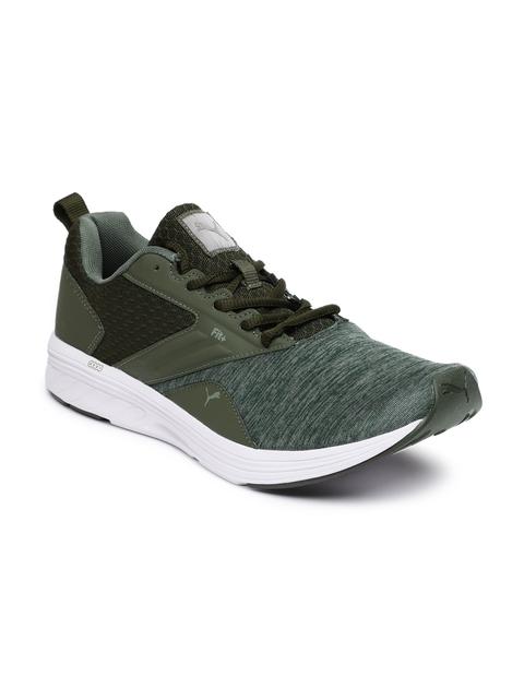 Puma Men Olive Green Comet IDP Running Shoes