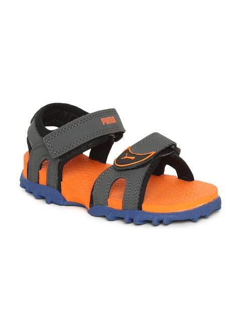 Puma Kids Grey Track PS IDP Sports Sandals