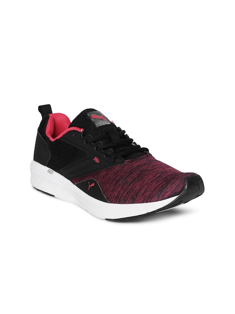 Puma Women Black & Red Comet IPD Running Shoes
