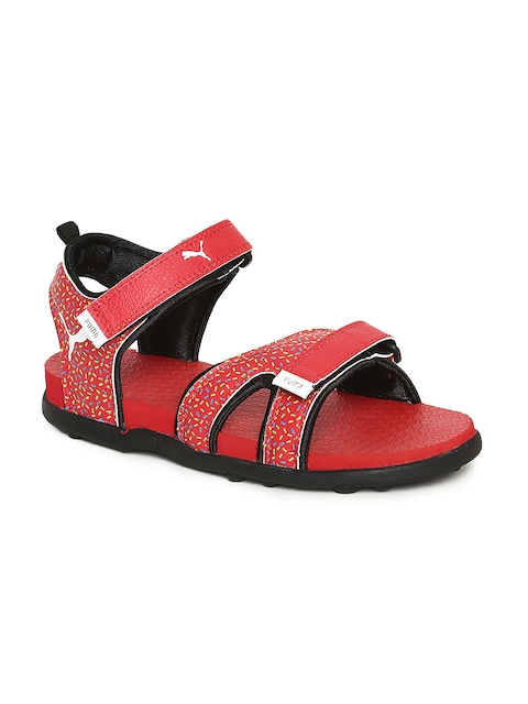 Puma Kids Red Tech Cat GU PS IDP Sports Sandals