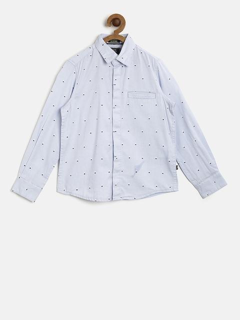 Indian Terrain Boys Blue Regular Fit Printed Casual Shirt