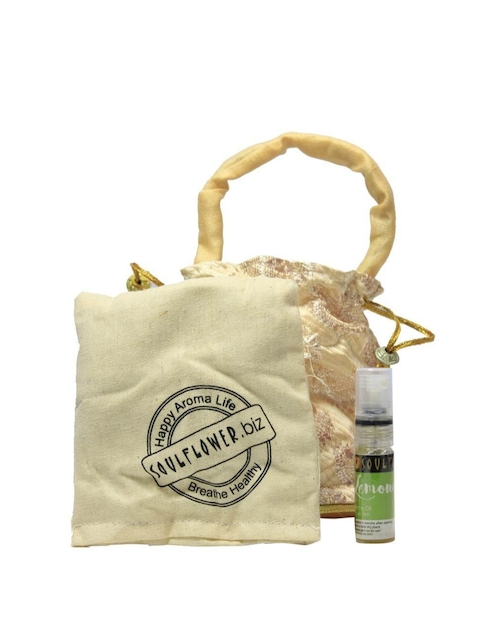 Soulflower Lemongrass Aroma Pouch With Bottle