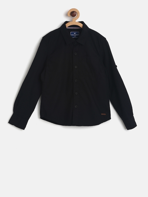 Fame Forever by Lifestyle Boys Black Solid Casual Shirt