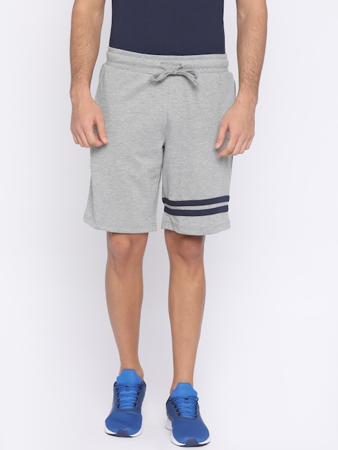 FILA Men Grey Melange Solid MIKA Regular Fit Sports Shorts