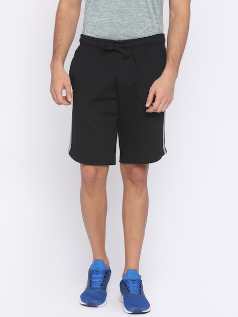FILA Men Black Solid SHEVO 2 Regular Fit Sports Shorts