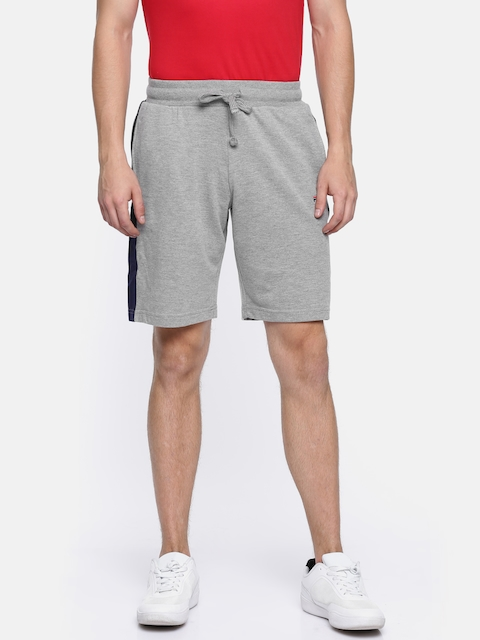 FILA Men Grey Solid Regular Fit Sports Shorts