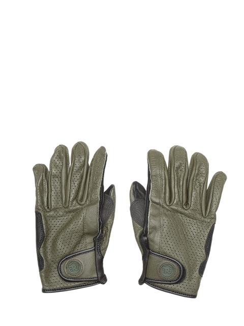Royal Enfield Men Olive Green & Black Summer Riding Gloves