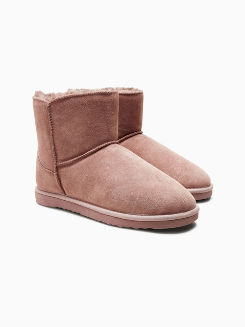 next Women Beige Flat Boots