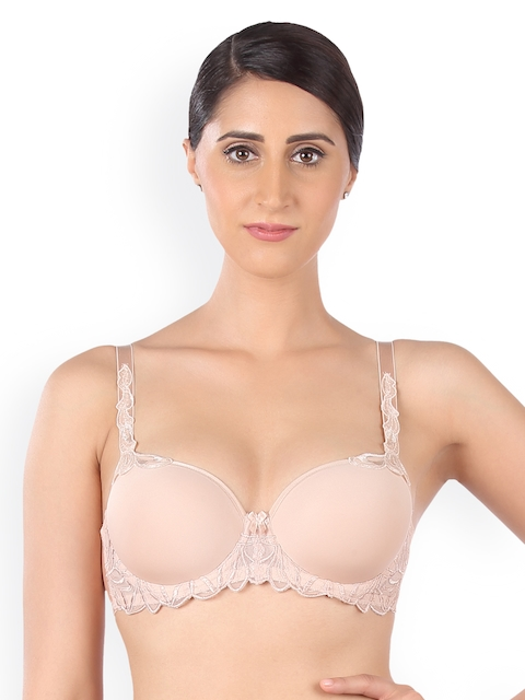 6cde3f4d8 Triumph Beige Lace Underwired Heavily Padded Everyday Bra 7613125570957