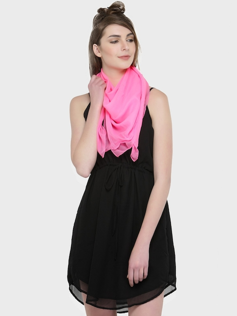 J Style Pink Solid Scarf